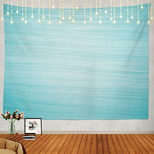 Shrahala Light Blue Tapestry, Turquoise Solid Color Wall Hanging Large Tapestry Psychedelic Tapestry Decorations Bedroom Living Room Dorm 59.1 x 82.7 Inches, Blue 3