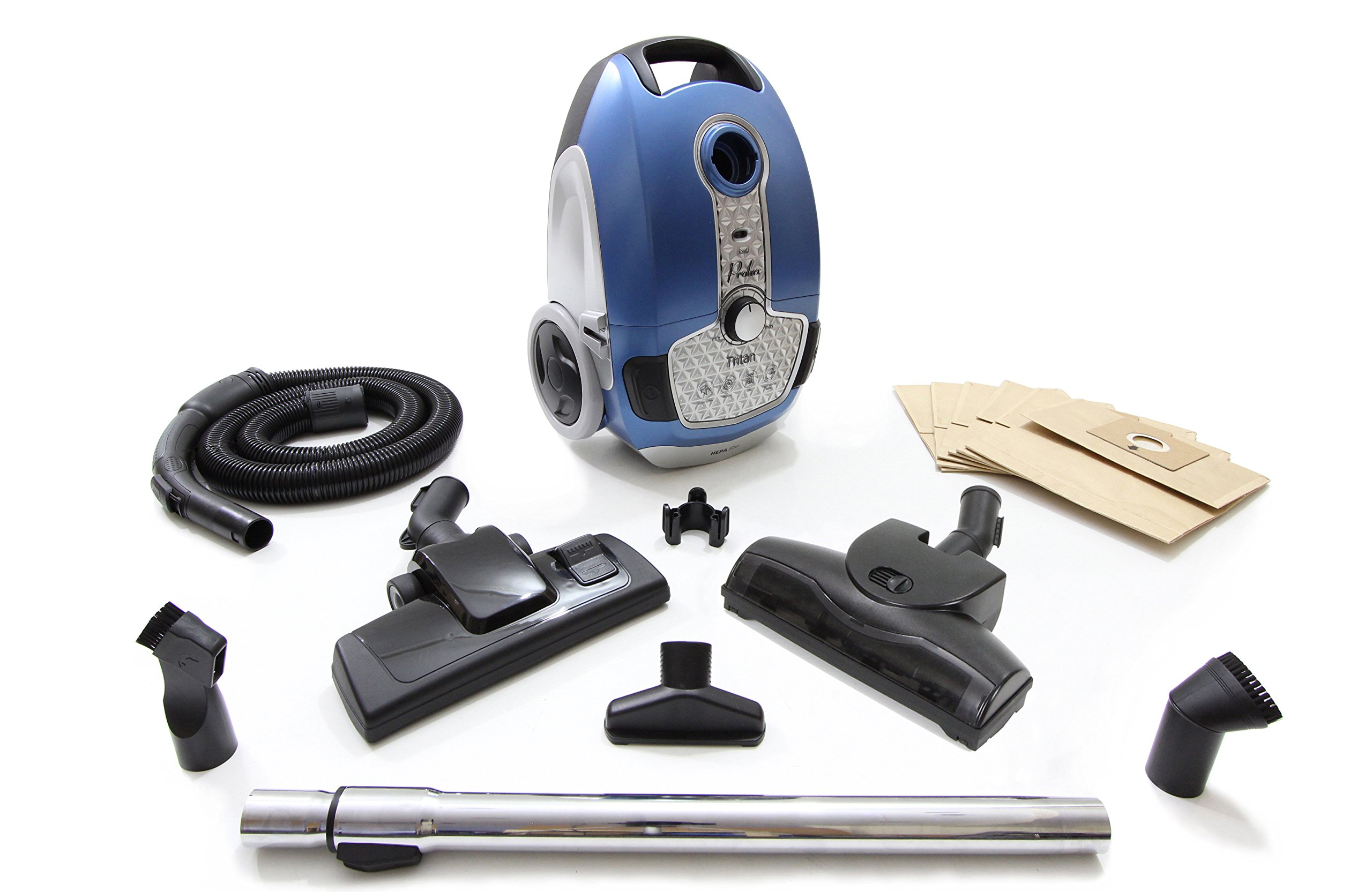 Prolux Tritan Bagged Canister Vacuum with HEPA Filtration for Pet Owners by Prolux