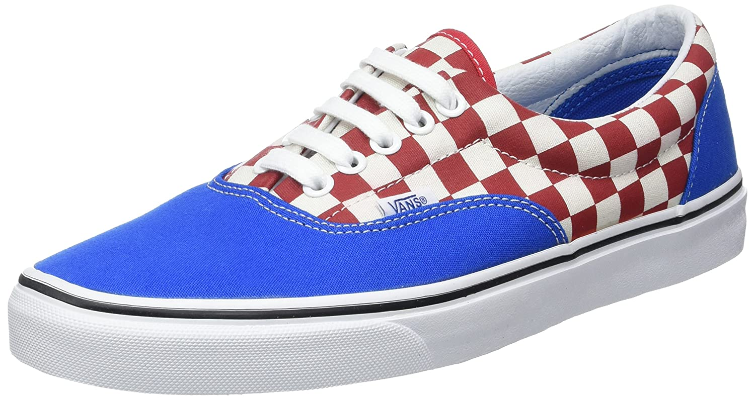 Vans Unisex Era Skate Shoes, Classic Low-Top Lace-up Style in Durable Double-Stitched Canvas and Original Waffle Outsole B01I2B2I3K 9 B(M) US Women / 7.5 D(M) US Men|(Two-tone Check) Imperial Blue/True White