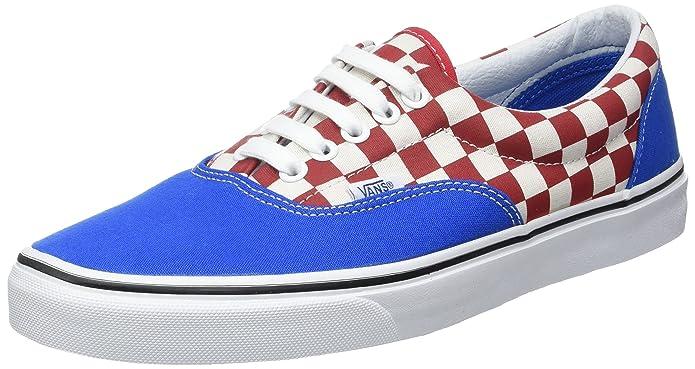 Vans Sneakers Era Rot-Weiß Kariert / Blau Größe EU 39