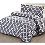 Amazon Price History for:Printed Comforter Set (Grey, King) with 2 Pillow Shams - Luxurious Soft Brushed Microfiber - Goose Down Alternative Comforter by Utopia Bedding
