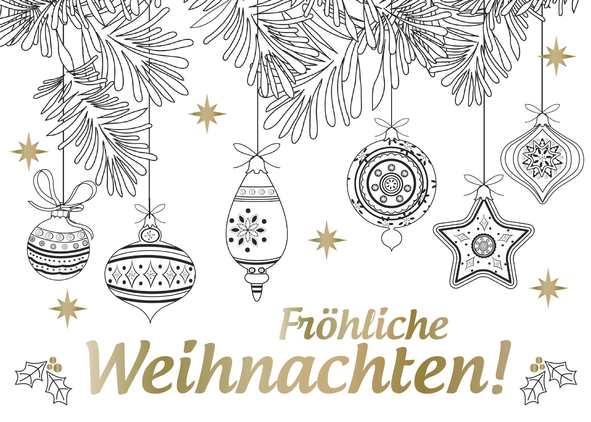 Frohe Weihnachten Schriftzug Zum Ausmalen.Weihnachtszauber Edle Postkarten Zum Ausmalen Malprodukte Für