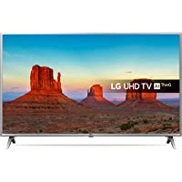 LG 43UK6500PLA 43-Inch UHD 4K HDR Smart LED TV with Freeview Play - Steel Silver/Black (2018 Model)