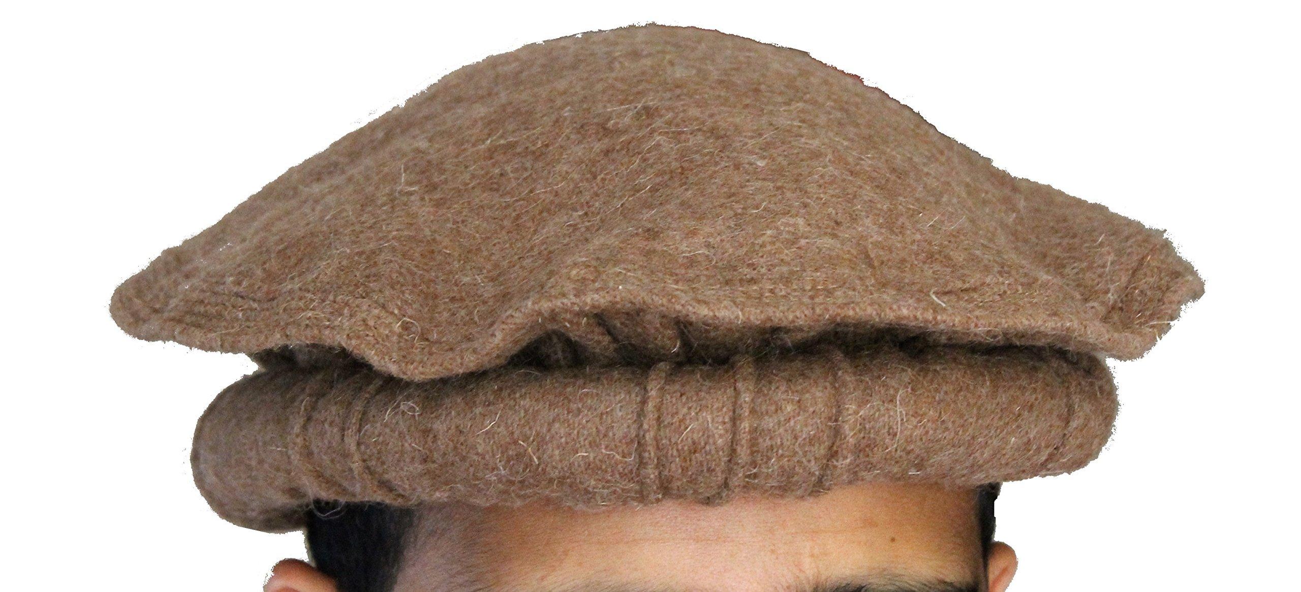 Galleon - 100% Wool Handmade Chitrali Cap   Afghani Pakol   Hat From  Pakistan   Afghanistan (Khaki) c909d48c78f