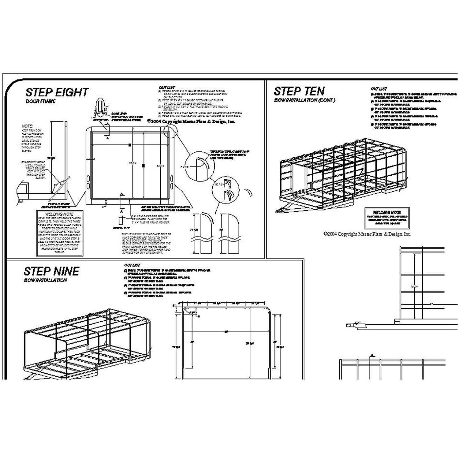 amazon com covered cargo trailer plans blueprints 8 x 16 model rh amazon com 4 Pin Trailer Plug Schematic cargo mate enclosed trailer schematics