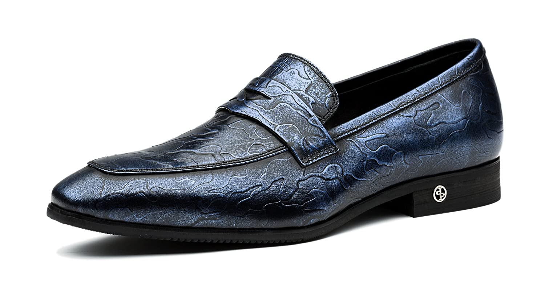 OPP Hombres Flats Zapatos de Piel Zapatos de vestir 40 EU Azul