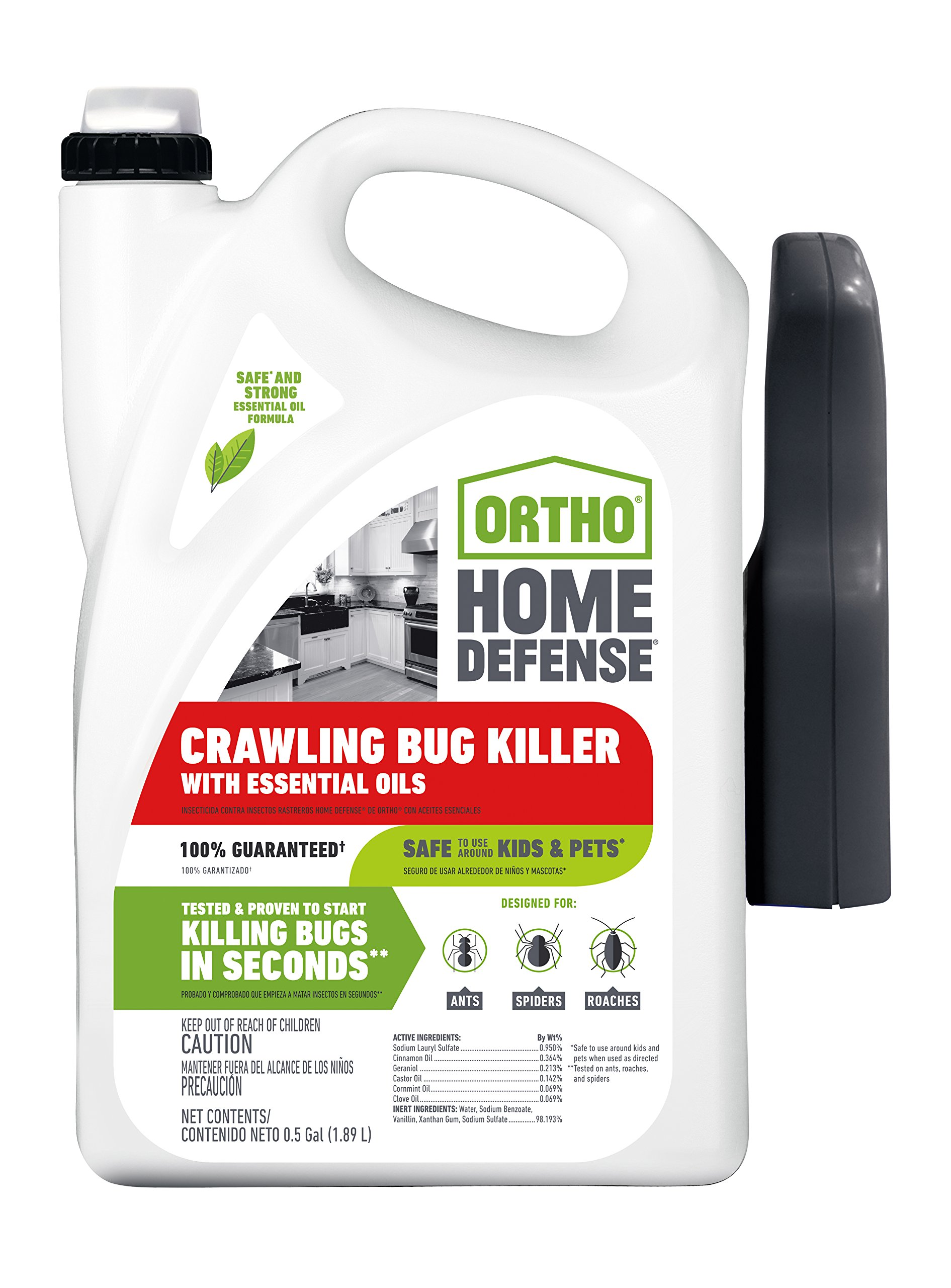 Ortho Home Defense Crawling Bug Killer with Essential Oils RTU Trigger 0.5 GAL by Ortho