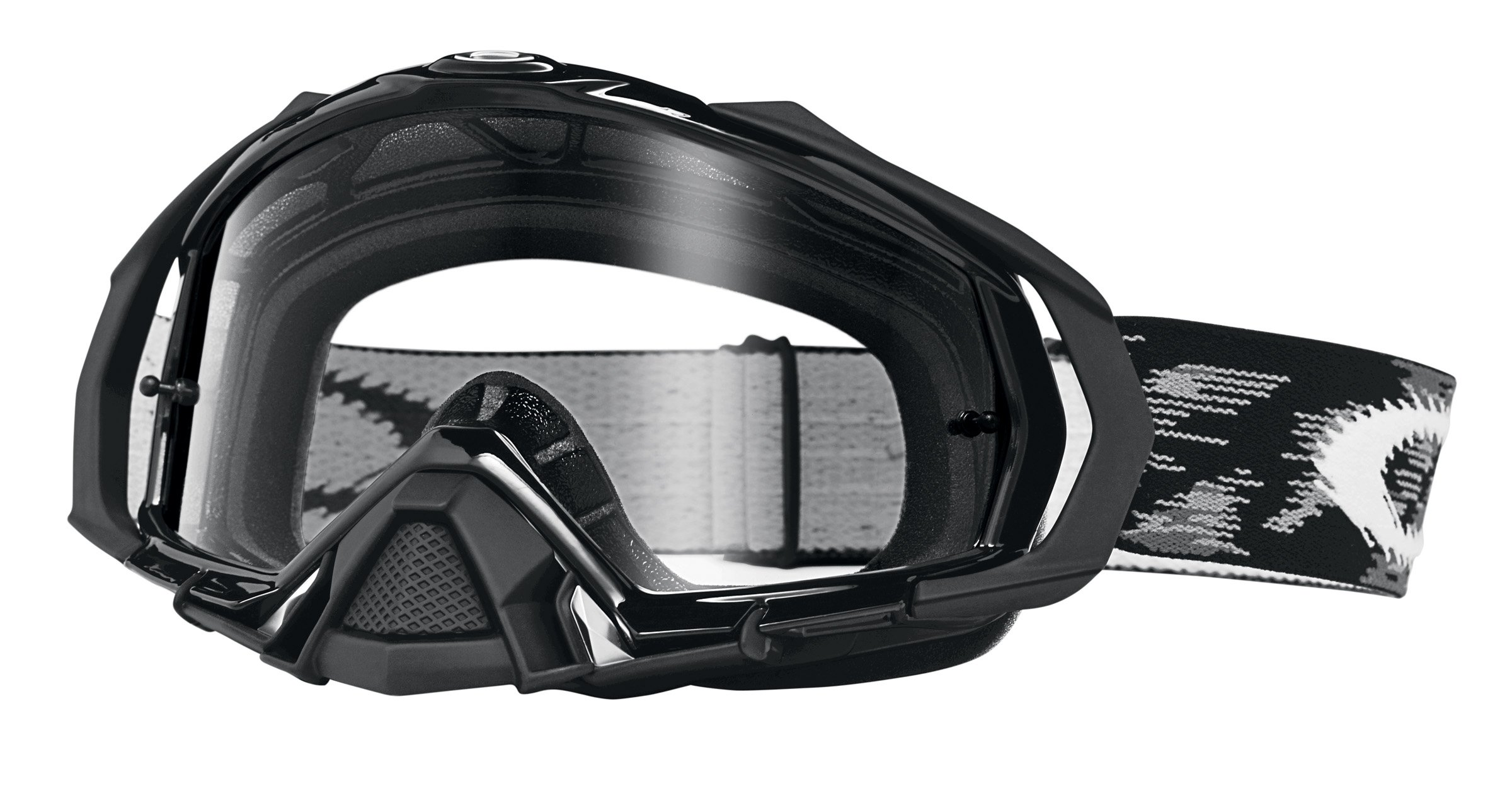 Oakley Mayhem Pro Goggles (Jet Black Frame/Clear Lens) by Oakley