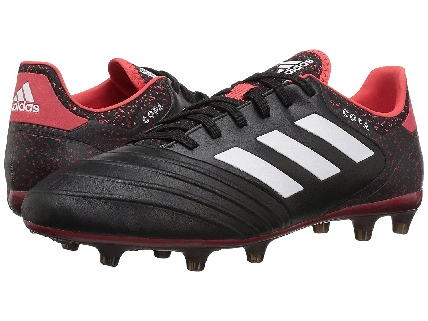 (アディダス) adidas メンズサッカーシューズ靴 Copa 18.2 FG Black/White/Real Coral 7.5 (25.5cm) D Medium B07BQLMRCD