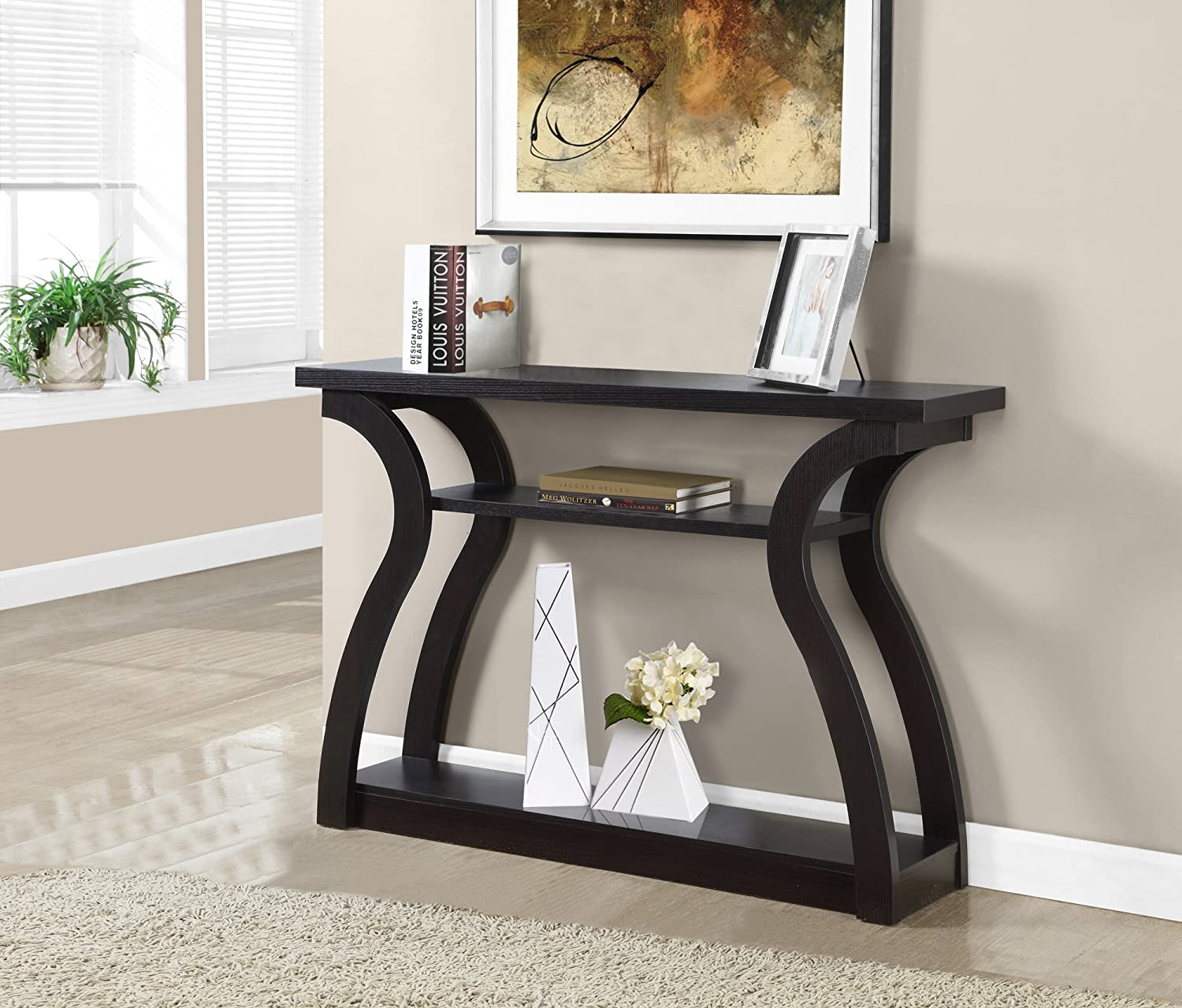 Monarch Specialties I 2445, Hall Console, Accent Table, Cappuccino