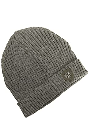 ff70ba9e087e7 883 Police Bussola Beanie Hat Grey  Amazon.co.uk  Clothing