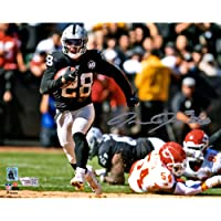"$83 » Josh Jacobs Las Vegas Raiders Autographed 8"" x 10"" Running Photograph - Fanatics Authentic Certified"