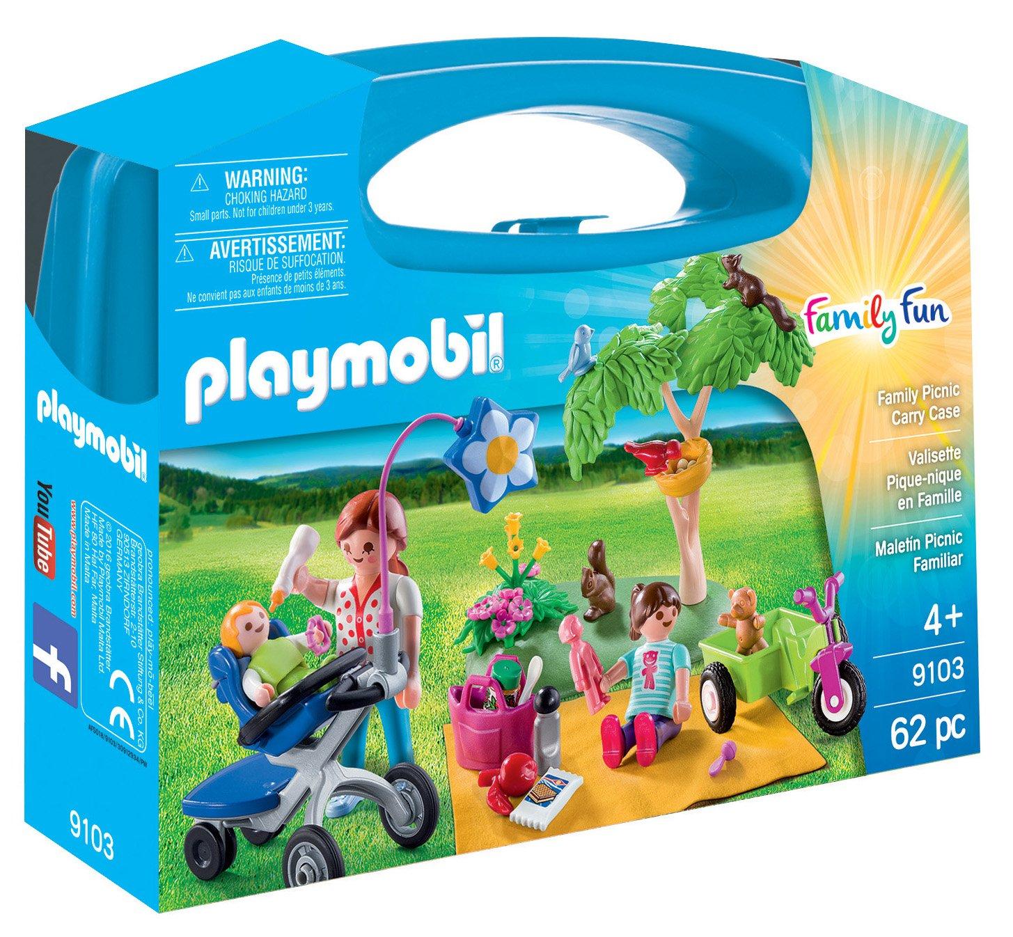 Playmobil Maletín Grande Picnic Familiar única 9103: Amazon.es: Juguetes y juegos