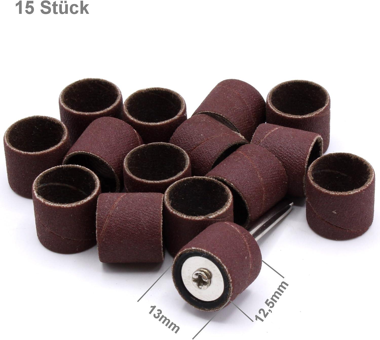 1 mandrin 13 mm pour Dremel Proxxon Accessoire Outil multifonction Lot de 15 embouts abrasifs Grain 320