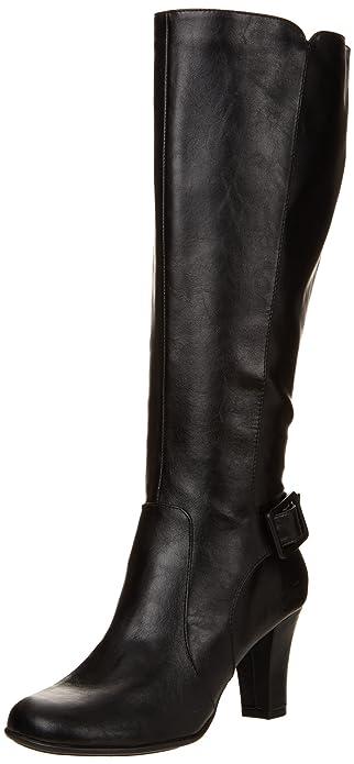 Black A2 By Aerosoles Ladies Boot Money Role Wide Calf Origional