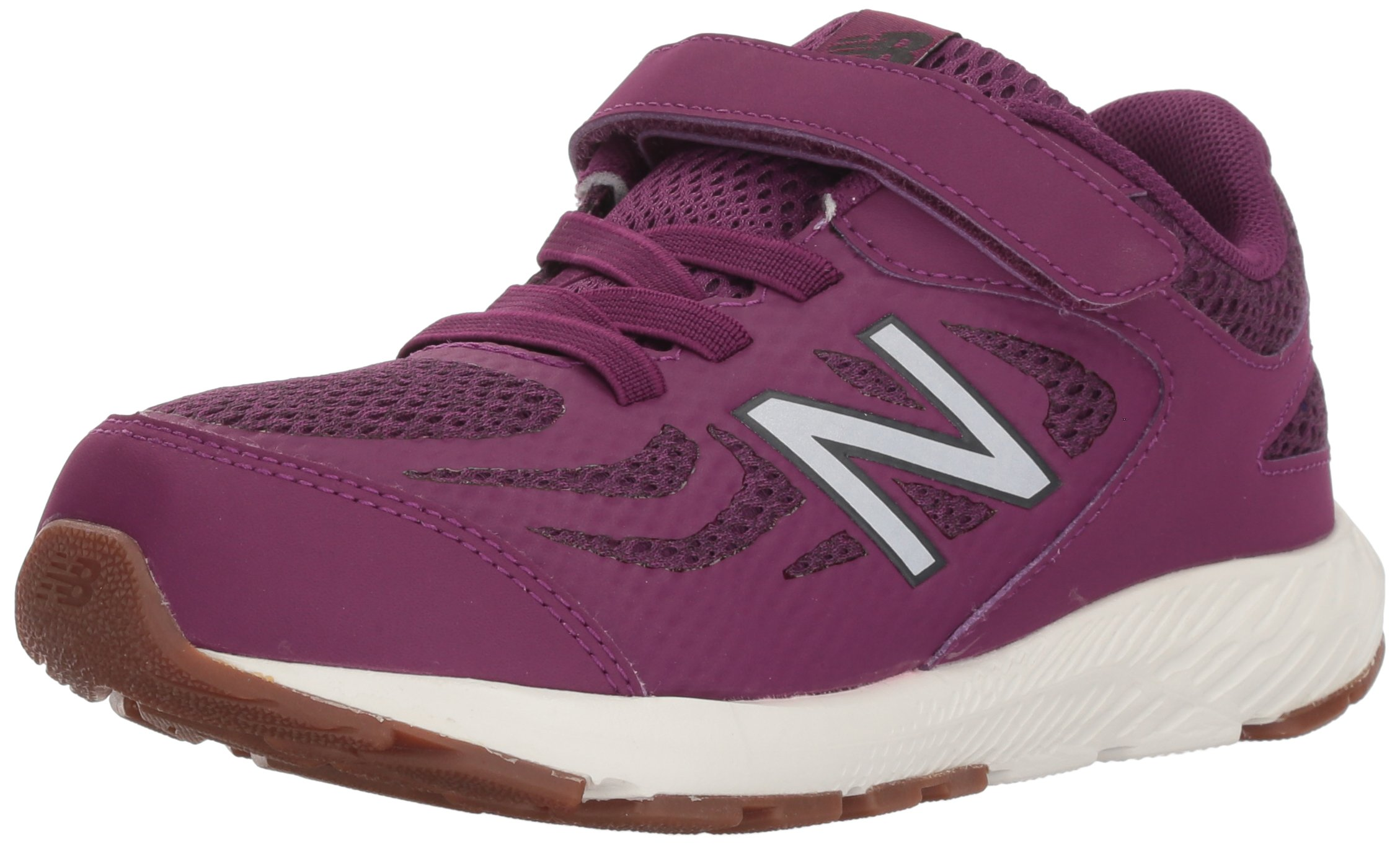 New Balance Girls' 519v1 Hook and Loop Running Shoe, Imperial/Phantom, 2 M US Infant
