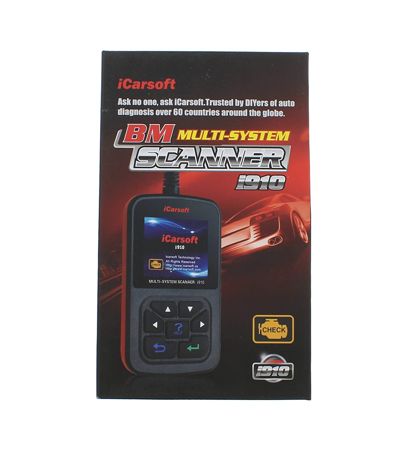 iCarSoft i910 multisystem scan tool is among the best BMW scanners. It can diagnose various car systems