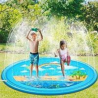 Sooair Splash Pad, sproeier, waterspeelmat, 170 cm, voor outdoor, zomer, tuin, waterspeelgoed voor baby's, kinderen…