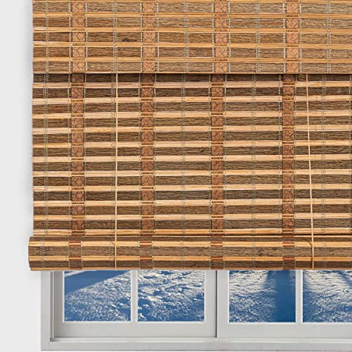 TJ Global Bamboo Roll Up Window Blind Sun Shade