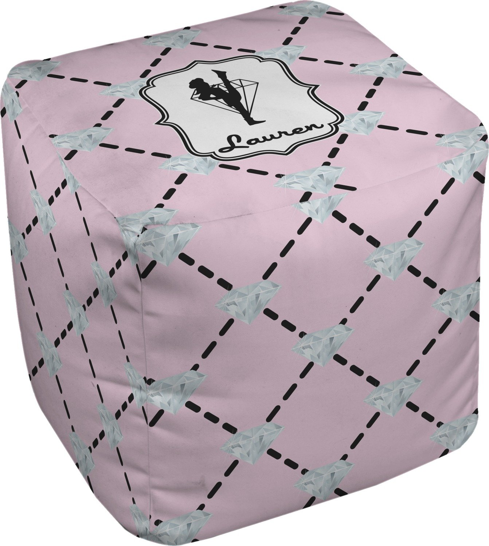 RNK Shops Diamond Dancers Cube Pouf Ottoman - 13'' (Personalized)