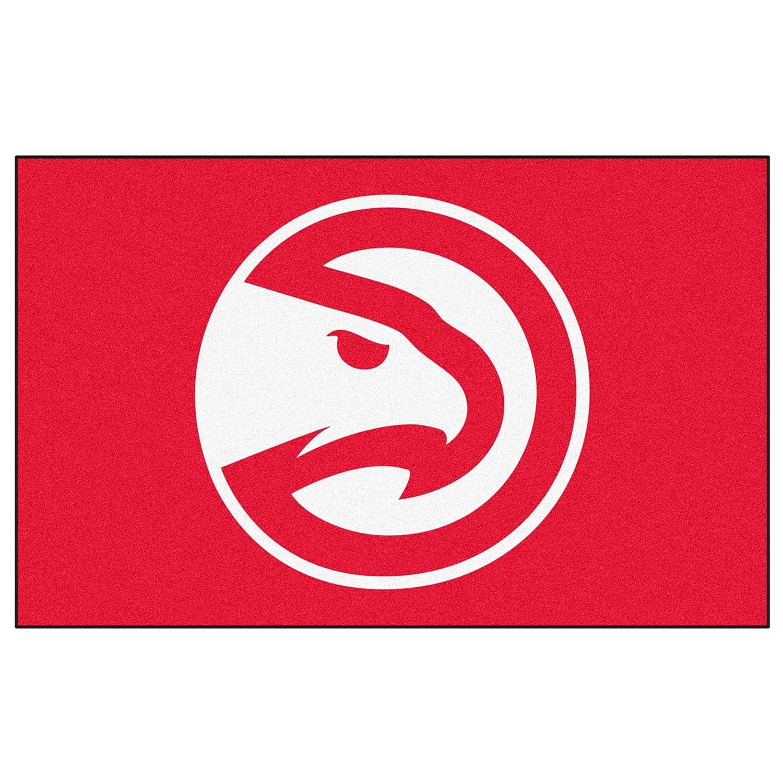 FANMATS NBA Atlanta Hawks Nylon Face Ultimat Rug