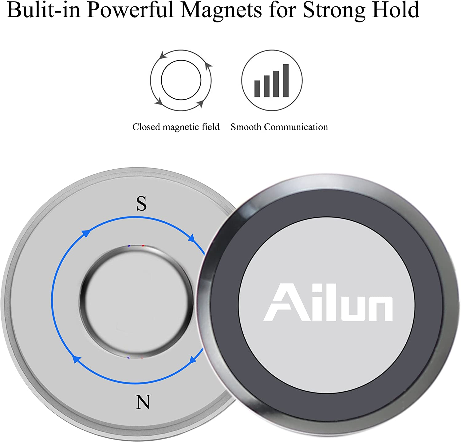 Fba Ailun Metal Ball Magnetic Car Mount For Mobile Devices Black Auto