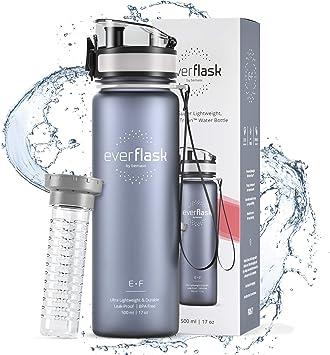 Botella Agua Deporte EVER FLASK + Contenedor para Fruta ...