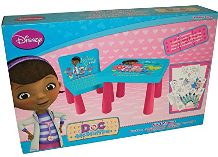 DISNEY DOC MCSTUFFINS SIT AND COLOUR DRAWING COLOURING ART DESK TABLE CHAIR PLAY SET XMAS GIFT  sc 1 st  Amazon UK & DISNEY DOC MCSTUFFINS SIT AND COLOUR DRAWING COLOURING ART DESK ...