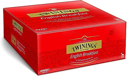 Twinings English Breakfast 200 g, 100 bolsas, 1er Pack (1 x 200 g): Amazon.es: Alimentación y bebidas