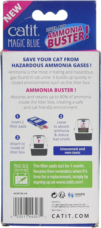 Catit Magic Blue Ammonia Buster - Reduce el Olor a orina y los olores para una Caja de Arena Fresca para Gatos: Amazon.es: Productos para mascotas