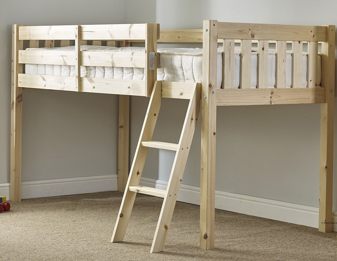 kids solid bed furniture cabin traditional beds oak aspenn products