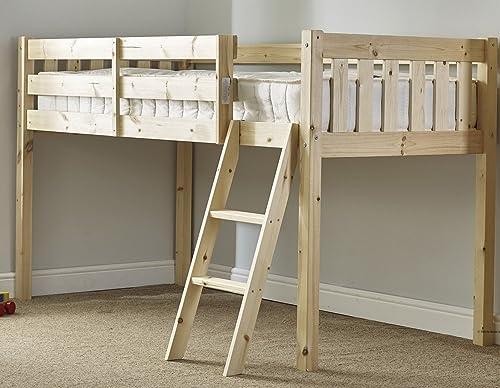 Cabin Bed 3ft Single Wooden Midi Sleeper Childrens