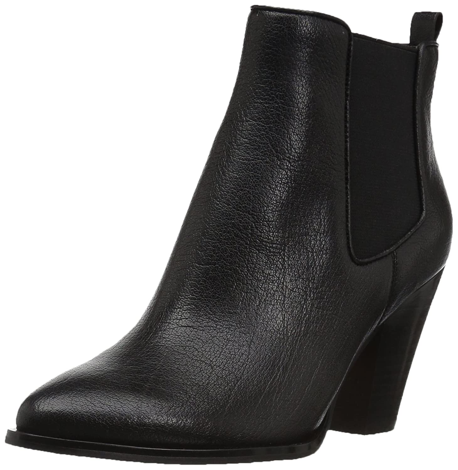 The Fix Women's Joelle Cowboy Style Ankle Boot B074JP8YS2 8 B(M) US|Black Leather