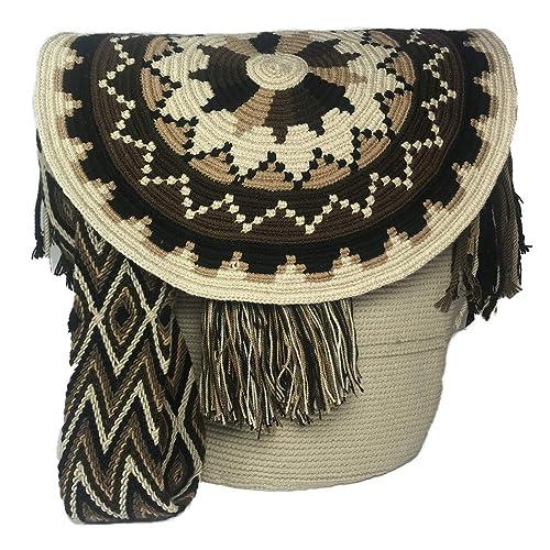 Amazon.com: Wayuu Mochila Bolsa Solapa Top Grande - 100 ...