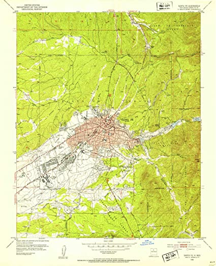 Amazon.com : YellowMaps Santa Fe NM topo map, 1:24000 Scale ... on tulsa map, st. augustine map, marquis los cabos map, sedona map, san francisco map, mexico city map, hollywood ca on map, scottsdale springs map, el paso map, san antonio map, new england map, sacramento map, beckley map, independence map, new mexico map, philadelphia map, charleston map, new orleans map, montreal map, boston map,
