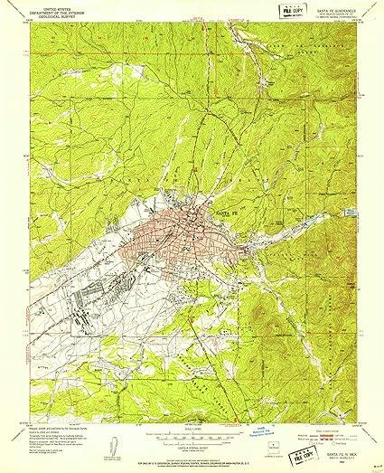 Amazon.com : YellowMaps Santa Fe NM topo map, 1:24000 Scale ...