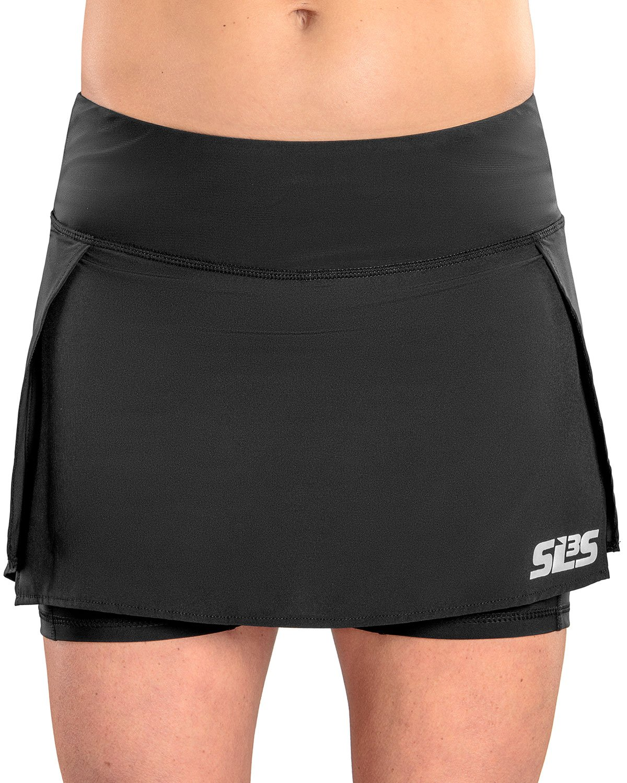 SLS3 Running Skirts for Women - Athletic Skirt with Pockets - Womens Golf Workout Skort (S, Black)