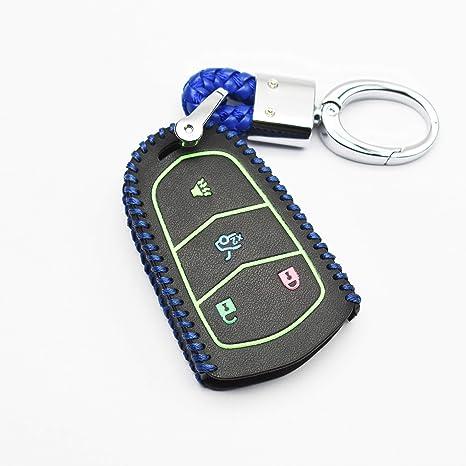 5 Buttons Remote Key Fob Case Shell PU Fits Cadillac Escalade ATS CTS XTS SRX