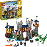 LEGO Creator 3in1 Medieval Castle 31120 Building Kit; Castle with Moat and Drawbridge, Plus 3 Minifigures; New 2021 (1,426 Pi