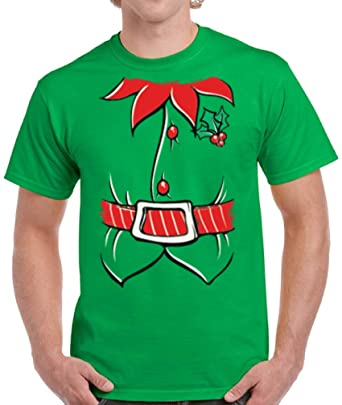 2e6762a035 Pekatees Christmas Tie Shirt for Men Funny Santa Costume Tshirt Christmas  Tuxedo Tshirts for Men Funny