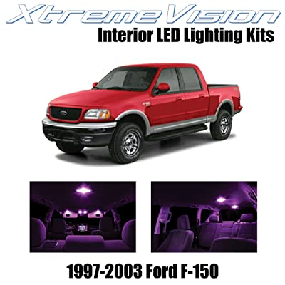 Xtremevision Interior LED for Ford F-150 1997-2003 (10 Pieces) Pink Interior LED Kit + Installation Tool: Automotive