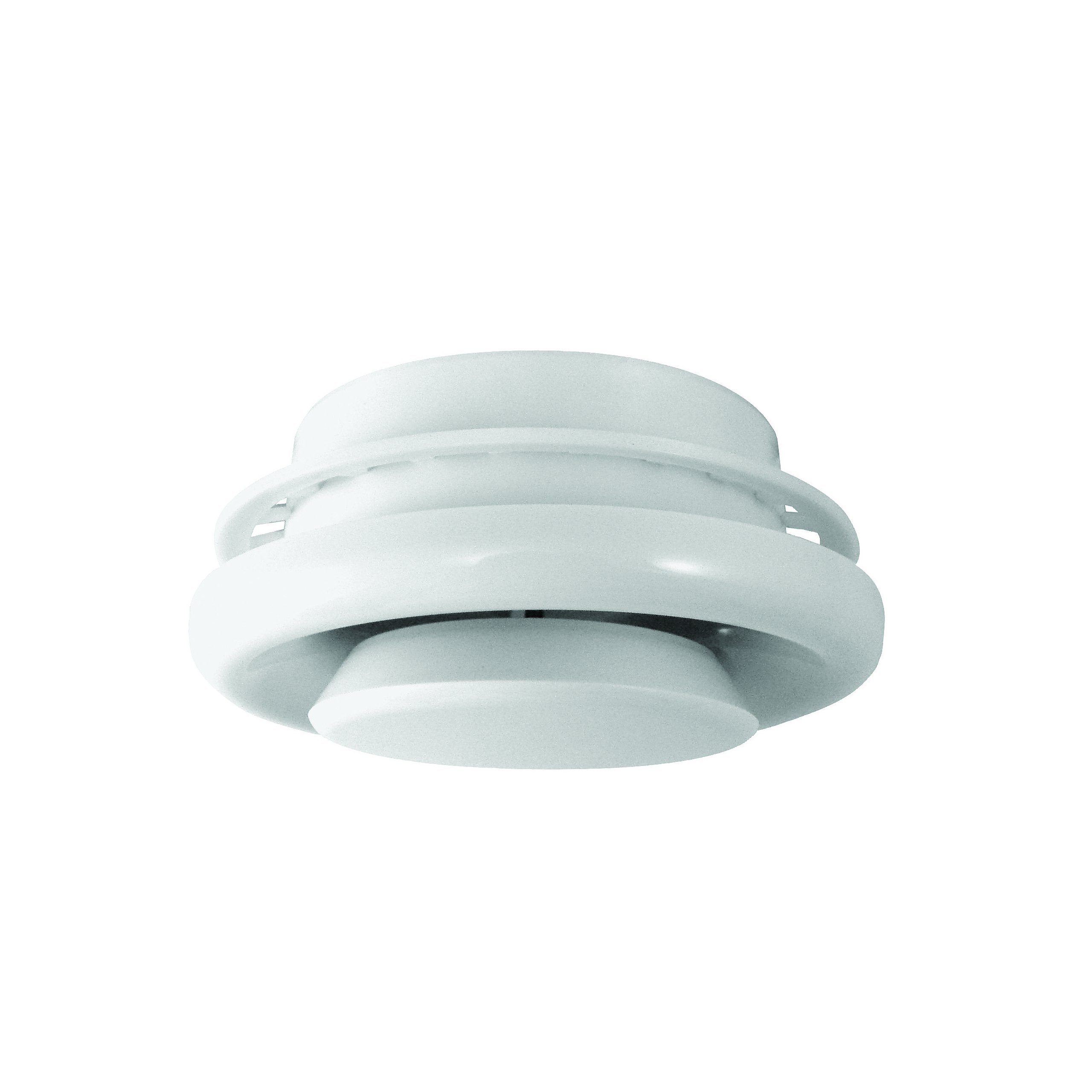 Deflecto Round Ceiling Diffuser, Adjustable, Requires No Studs for Installation, 4 Inches Dia., White (TFG4) by Deflecto