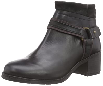 Fly London Meli, Bottes Motardes Femme, Noir (Rug/Oil Black), 41 EU