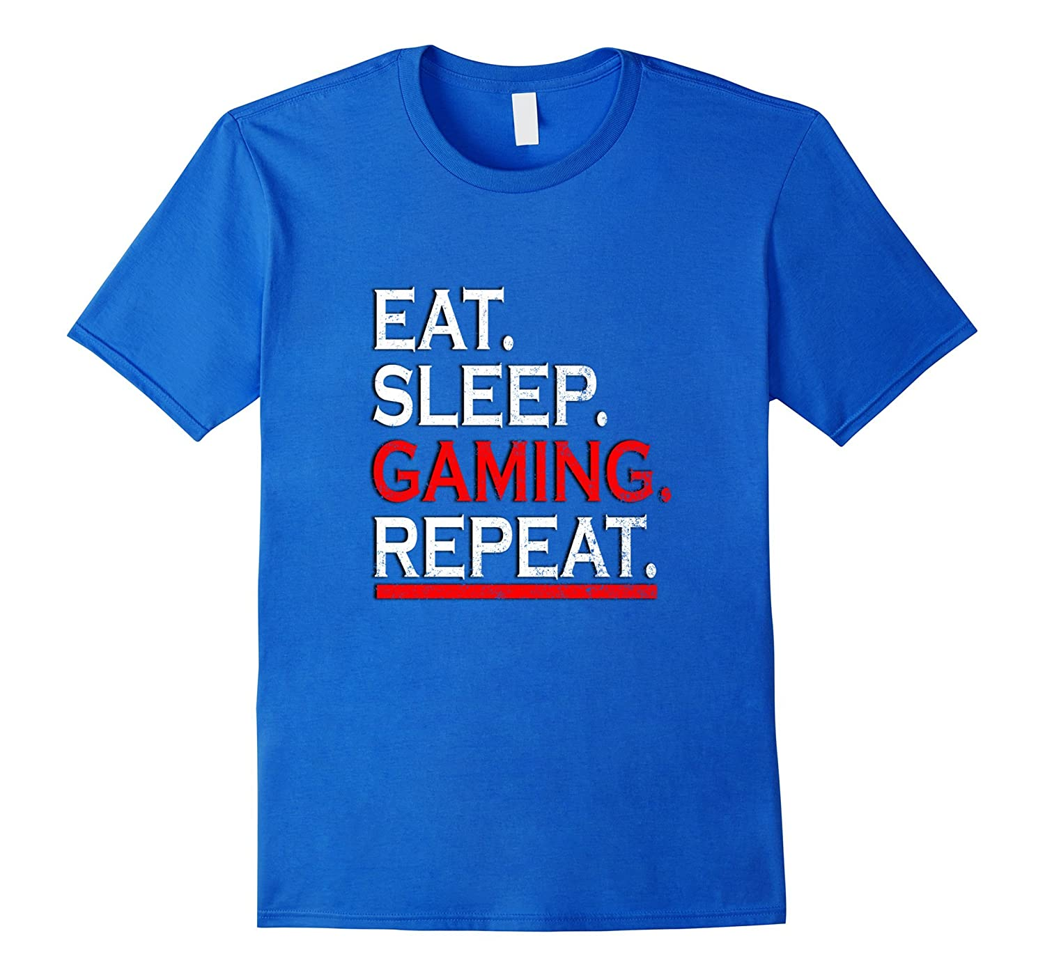 EAT SLEEP GAMING REPEAT T-SHIRT-TD