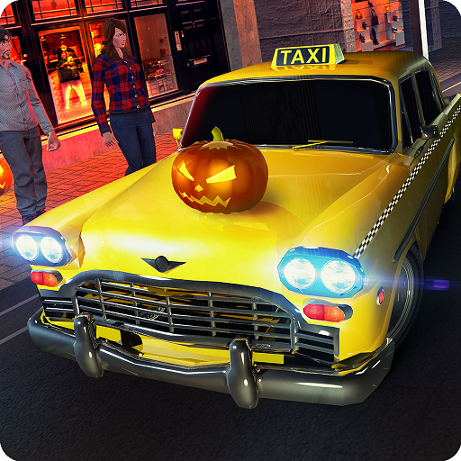 Party Crazy Taxi Driver Rush Mania Simulator 3D: Halloween Car Driving & Tourist Transporter Adventure Mission Simulation Games Free For Kids 2018 -