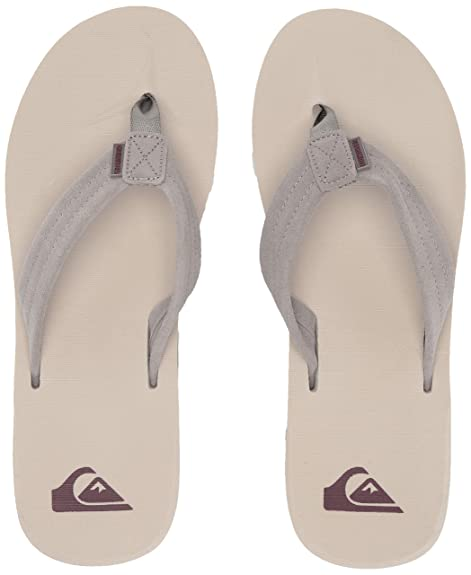 49fc896297aa Quiksilver Men s Carver Suede Flip Flops  Amazon.co.uk  Shoes   Bags