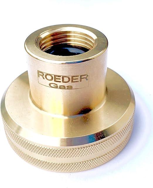 ROEDER-Gas Dish - Adaptador de depósito LPG para llenar botellas de gas de 11 kg