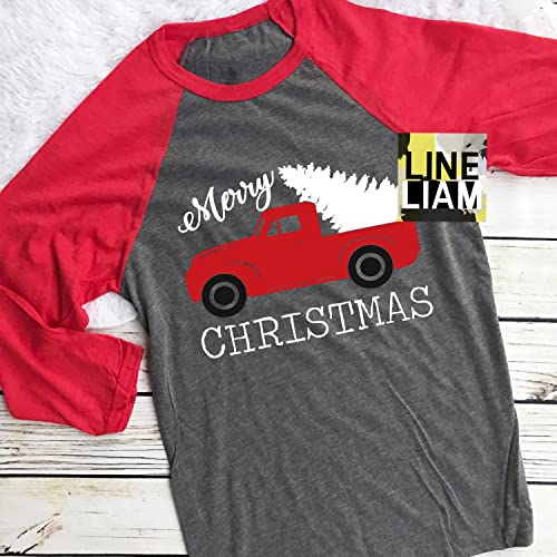 Amazon.com  christmas truck raglan 079983a8a