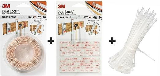 2 opinioni per Set 3M Dual Lock High-Tech, Chiusura a pressione 25 mm x 1,25 m translucido