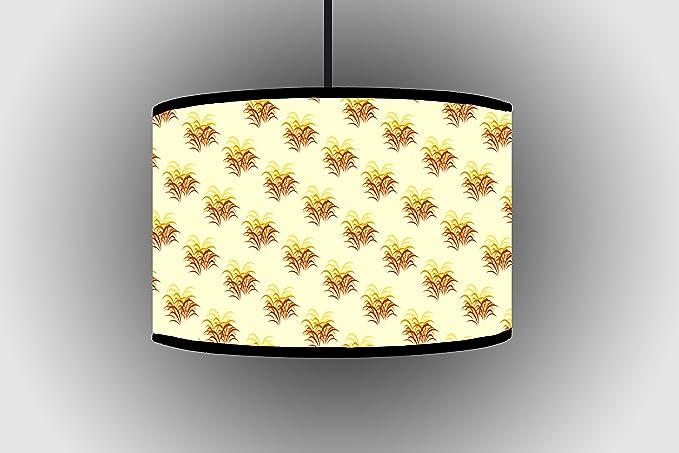 Cm vintage fiori arancione e giallo tamburo a mano lampade